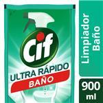 Limpiador Líquido Cif Baño Recarga 900 Ml