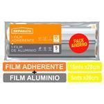 Rollo Film Adherente + Film De Aluminio SEPARATA 15 Mt / 5 Mt Paquete 2 Unidades