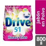 Jabón En Polvo DRIVE Regular Rosas Y Lilas 800 Gr