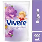 Suavizante Para Ropa VIVERE Regular Violetas Y Flores Blancas 900 Ml