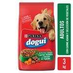 Alimento Adultos PURINA DOGUI 3 Kg Carne Asada Y Vegetales