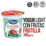 Yogur Descremado TREGAR Frutillas Con Frutas 160 Gr