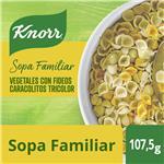 Sopa Vegetales Con Fideos Caracolitos Tricolor KNORR     Sobre 105 Gr