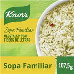 Sopa Familiar Knorr Vegetales Con Fideos De Letra 5 Porciones