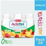 Bebida Láctea ACTIMEL Multifruta 0% 100 Gr X 6 Unidades