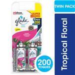 Aromatizante De Ambientes GLADE Toque Tropical Floral Repuesto Pack X2 9grx2