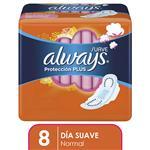 Toallas Femeninas ALWAYS Protección Plus Paquete 8 Unidades