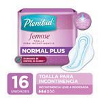 Toalla Normal Plus Plenitud Femme X16