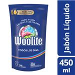 Jabón Liquido Woolite Todos Los Días Doypack 450 CC