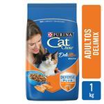 Alimento Adultos PURINA CAT CHOW DELI MIX 1 Kg Pollo, Carne Y Salmón