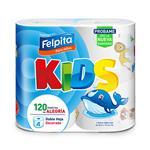 Papel Higiénico FELPITA Kids Doble Hoja Paquete 4 Unidades