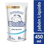 Jabón Liquido Woolite Extra Blanco Doypack 450 CC