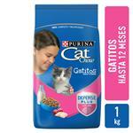 Alimento Cachorros PURINA CAT CHOW 1 Kg Leche, Carne Y Pescado