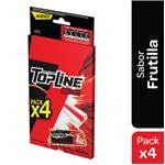 Chicles Top Line Seven X4 Strawberry Bli 58.8 Grm