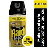 Insecticida Raid Mata Cucarachas Y Arañas Sin Olor Max En Aerosol 360cc