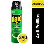 Insecticida RAID Mata Polillas Y Larvas En Aerosol 390cc