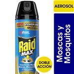 Insecticida RAID Mata Moscas Y Mosquitos Max En Aerosol 360cc