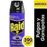 Insecticida RAID Mata Pulgas Y Garrapatas En Aerosol 390cc