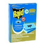 Tabletas RAID Matamosquitos 24 Noches Cja 24 Uni
