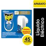 Insecticida RAID Contra Mosquitos Líquido Eléctrico Aparato 45 Noches 32,9ml