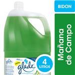 Limpiador Líquido Multisuperficies GLADE Mañana De Campo Bidón 4l
