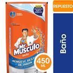 Limpiador De Baño Mr Músculo Líquido Repuesto 450ml