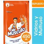 Limpiador Líquido Vidrios Y Multiusos Mr Músculo Original Repuesto 450ml