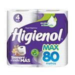 Papel Higiénico HIGIENOL Max Simple Hoja Paquete 4 Unidades
