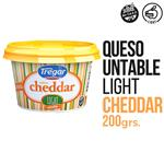 Queso Untable TREGAR Light Cheddar 190 Gr