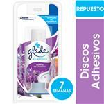 Discos Adhesivo Inodoro Glade Campos De Lavanda Repuesto 38gr