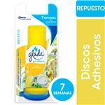 Discos Adhesivos Inodoro GLADE Limón Refrescante Repuesto 38gr