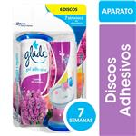 Discos Adhesivos Inodoro GLADE Campos De Lavanda Aplicador + Repuesto 38gr