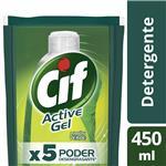 Detergente Concentrado CIF Active Gel Limón Verde Repuesto 450 Ml