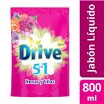 Jabón Líquido DRIVE Rosas Y Lilas 800 Ml