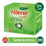 Edulcorante HILERET Stevia Caja Sobres X 200