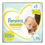 """Pañales PAMPERS """"RN+"""" 56 Unidades"""