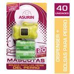 Bolsa P/Heces Masc Porta Bolsa +  Asurin Paq 3 Uni