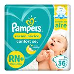"Pañales PAMPERS Confort Sec ""RN"" 36 Unidades"