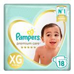 Pañales Pampers Premium Care Xg 18 Un