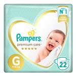 Pañales Pampers Premium Care G 22 Un