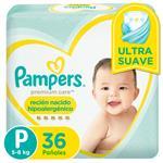 "Pañales  PAMPERS Premium Care   ""P"" 36 Unidades"
