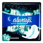 Toallas Femeninas ALWAYS Maxi Protección Nocturna Con Alas    Paquete 8 Unidades