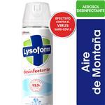 Desinfectante De Ambientes Y Elimina Olores LYSOFORM Aire De Montaña En Aerosol 360ml
