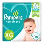 """Pañales  PAMPERS Confort Sec   """"XG"""" 16 Unidades"""