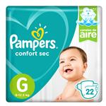 """Pañales  PAMPERS Confort Sec   """"G"""" 22 Unidades"""