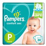 "Pañales PAMPERS Confort Sec ""P"" 30 Unidades"