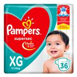 """Pañales  PAMPERS Supersec   """"XG"""" 36 Unidades"""