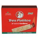 Fósforos TRES PATITOS Parrilleros Caja 5 Unidades