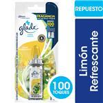 Aromatizante De Ambientes GLADE Toque Limón Refrescante Repuesto 9gr