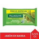 Jabón En Barra PALMOLIVE Naturals Oliva Y Aloe 125g Pack 3 Unid